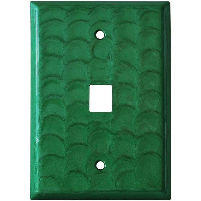 Green Motion 1 Port Modular Wall Plates for Phone, Data, Phone