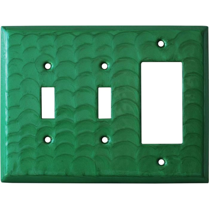 Green Motion Double 2 Toggle / 1 GFCI Rocker Combo Switchplates