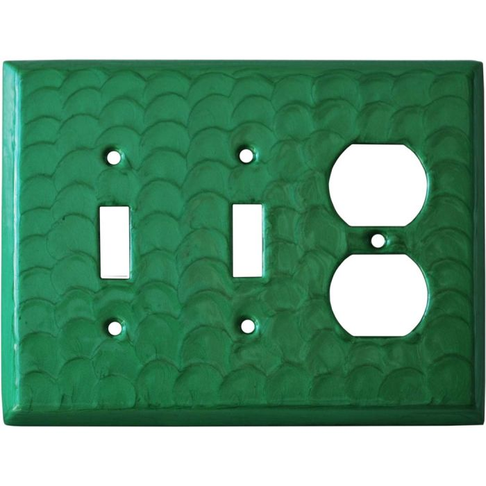 Green Motion Double 2 Toggle / Outlet Combination Wall Plates
