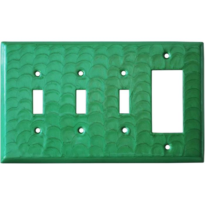 Green Motion Triple 3 Toggle / 1 Rocker GFCI Switch Covers
