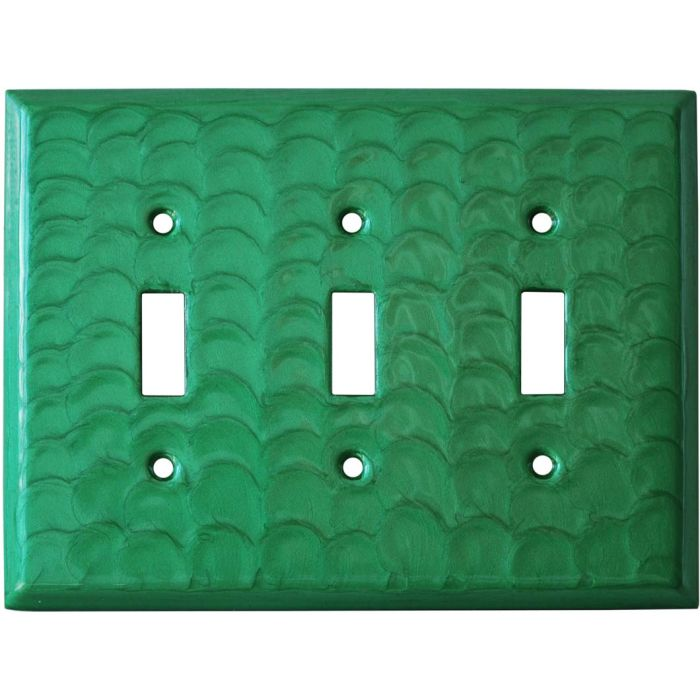 Green Motion Triple 3 Toggle Light Switch Covers