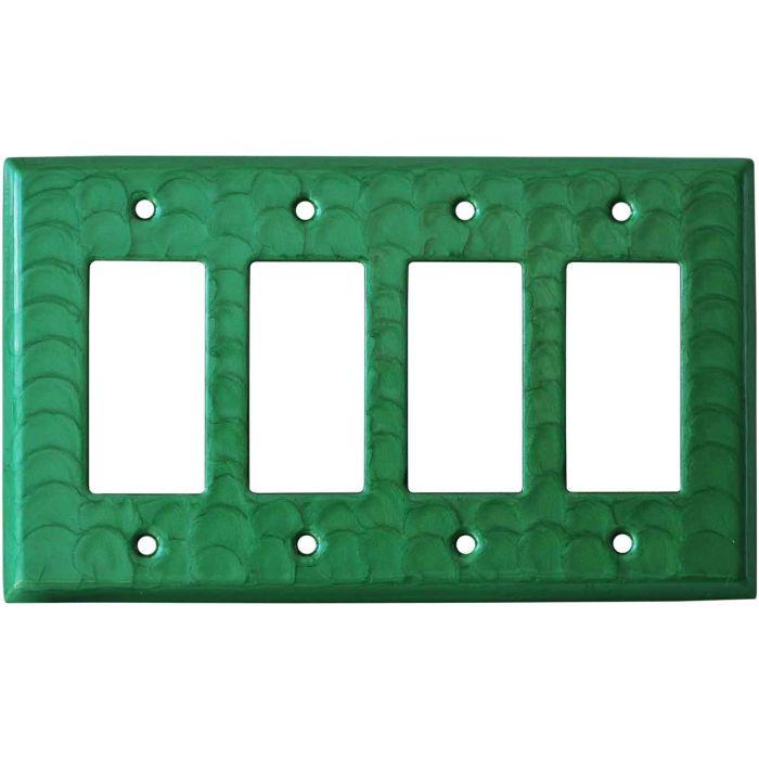 Green Motion - 4 Rocker GFCI Decora Switch Plates