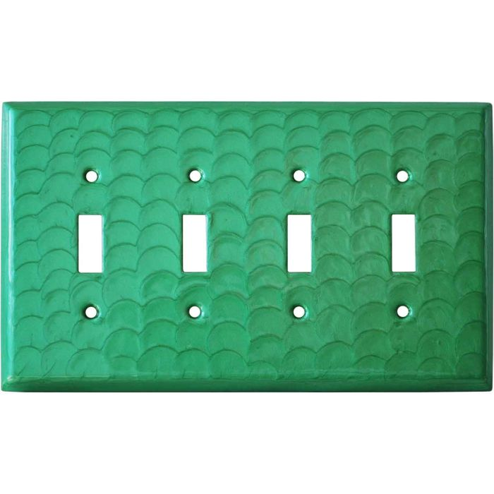 Green Motion Quad 4 Toggle Light Switch Covers