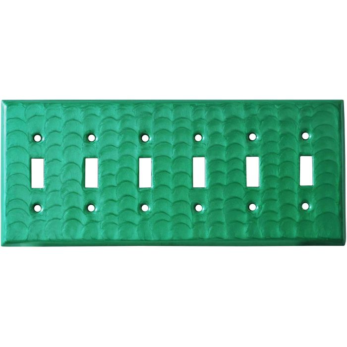 Green Motion 6 Toggle Wall Plate Covers