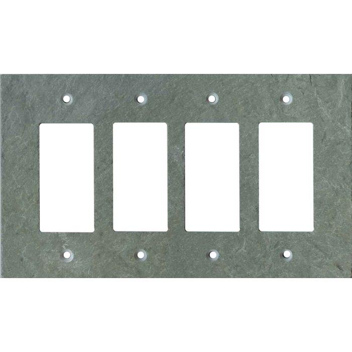 Vermont Green Slate 4 Rocker GFCI Decorator Switch Plates