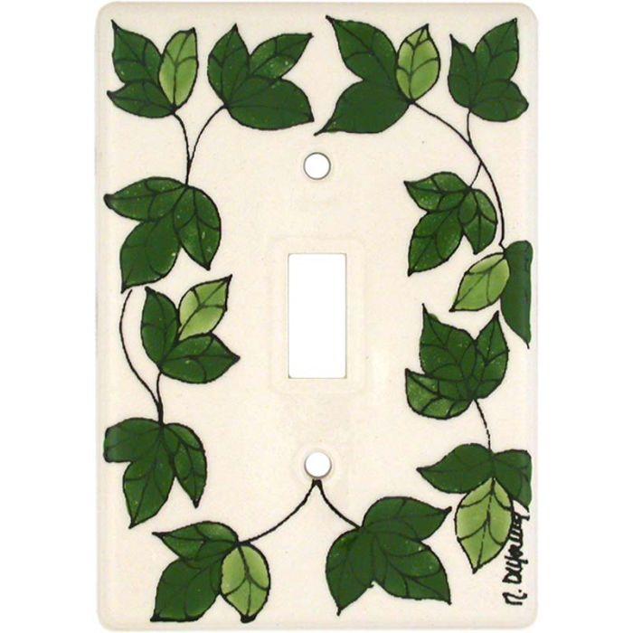 Green Vine Single 1 Toggle Light Switch Plates