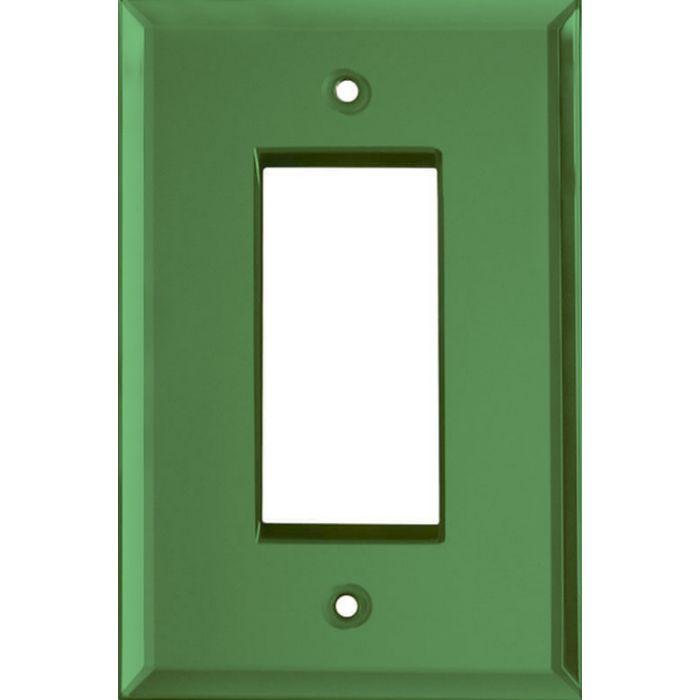 Glass Mirror Green Single 1 Gang GFCI Rocker Decora Switch Plate Cover