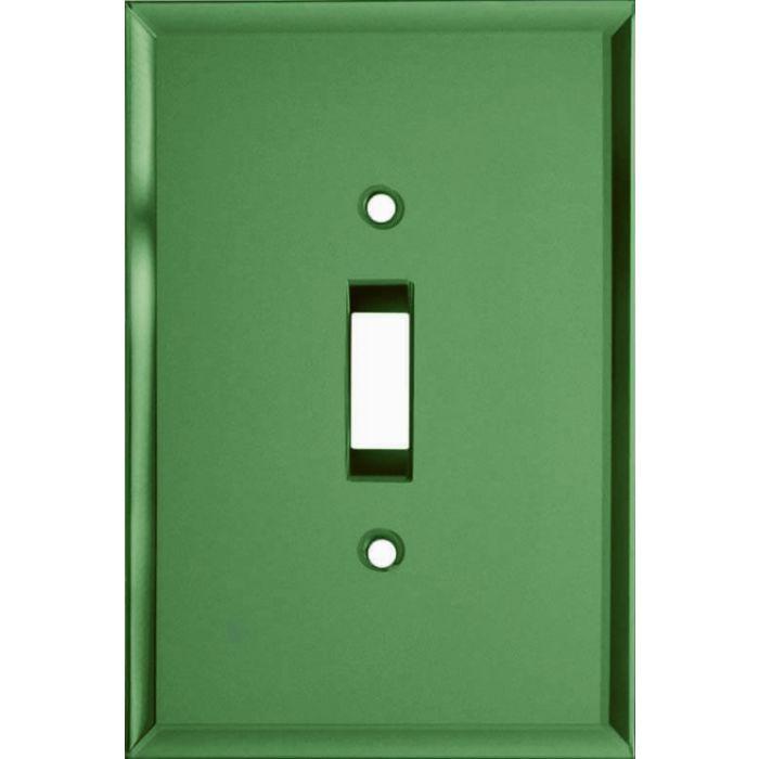 Glass Mirror Green Single 1 Toggle Light Switch Plates