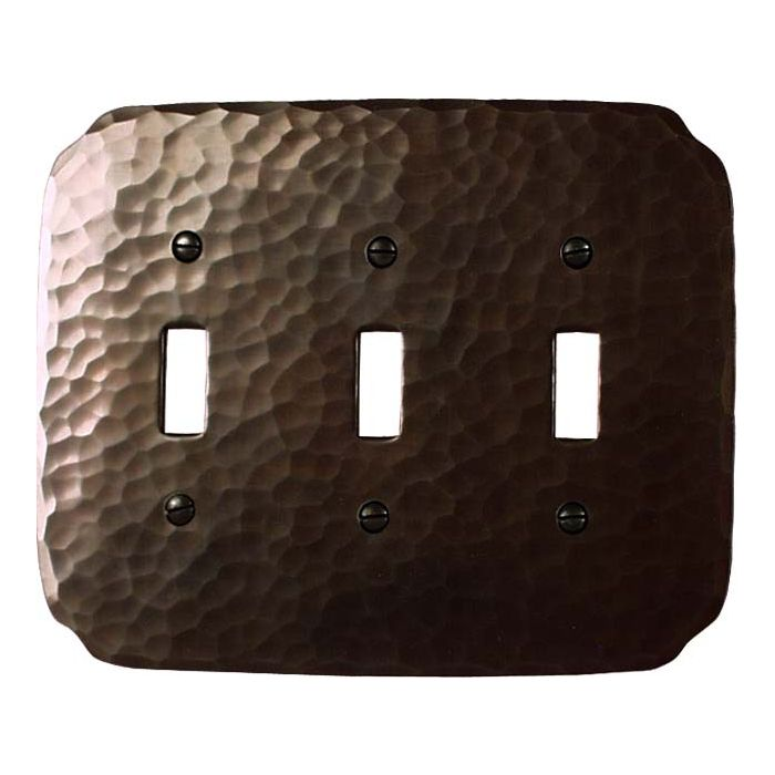 Greene Style Triple 3 Toggle Light Switch Covers