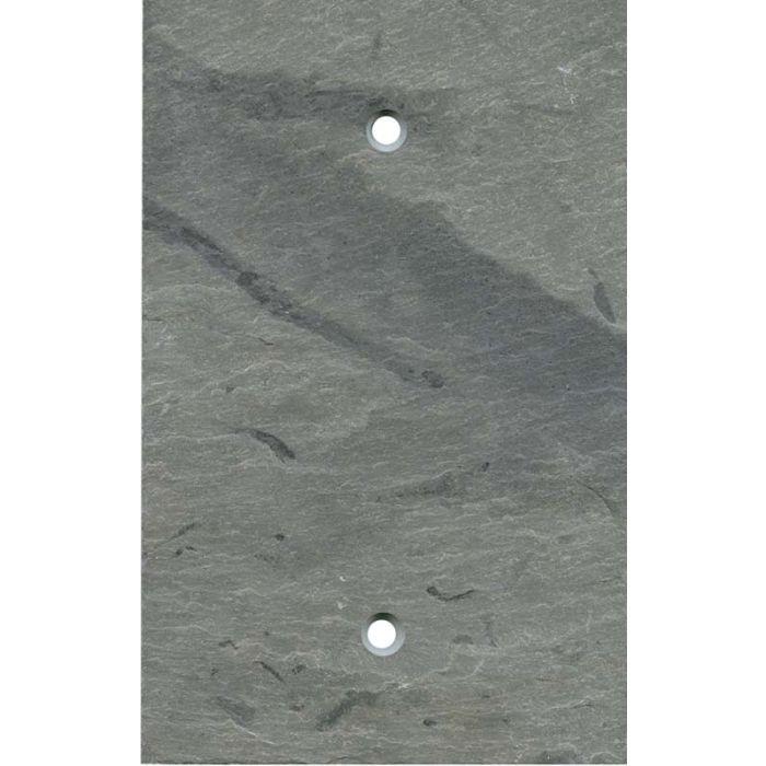 Vermont Grey Slate 1 Gang Blank Wall Plates