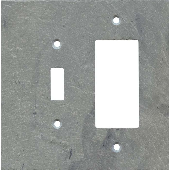 Vermont Grey Slate Combination 1 Toggle / Rocker GFCI Switch Covers