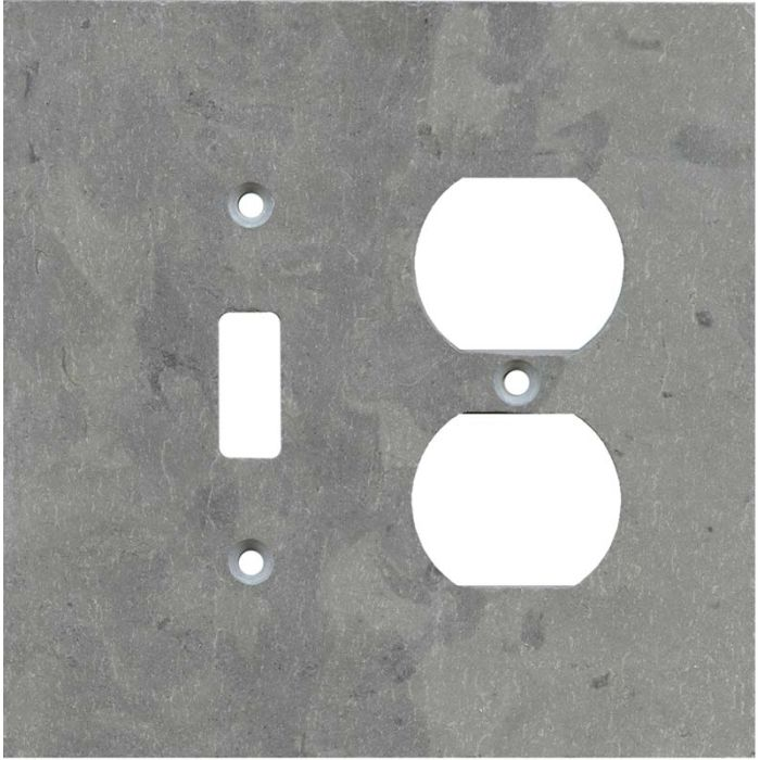 Vermont Grey Slate Combination 1 Toggle / Outlet Cover Plates