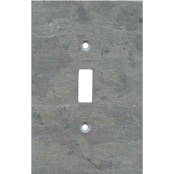 Vermont Grey Slate Single 1 Toggle Light Switch Plates