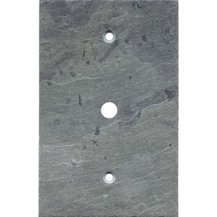 Vermont Grey Slate Coax Cable TV Wall Plates