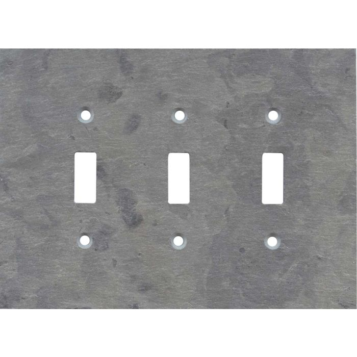 Vermont Grey Slate Triple 3 Toggle Light Switch Covers