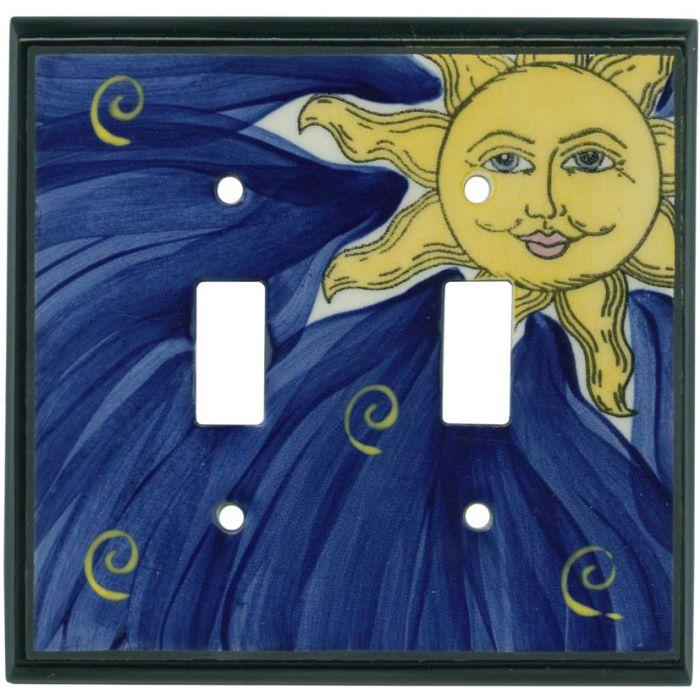 Grinning Sun Ceramic2 Toggle Switch Plates