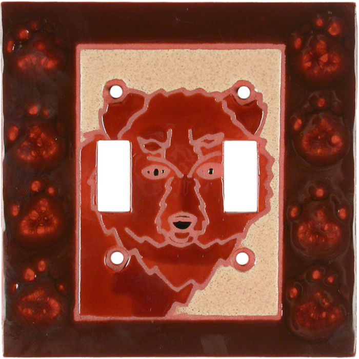 Grizzly - 2 Toggle Switch Plate Covers