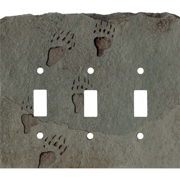 Grizzly Tracks Petra Triple 3 Toggle Light Switch Covers
