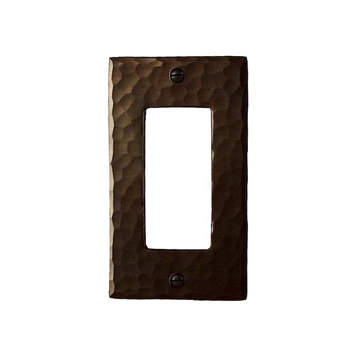 Hammered Single 1 Gang GFCI Rocker Decora Switch Plate Cover