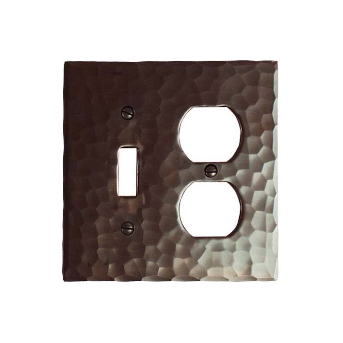 Hammered Combination 1 Toggle / Outlet Cover Plates