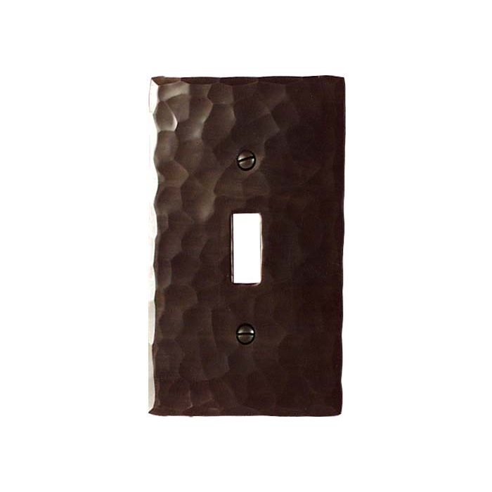 Hammered Single 1 Toggle Light Switch Plates