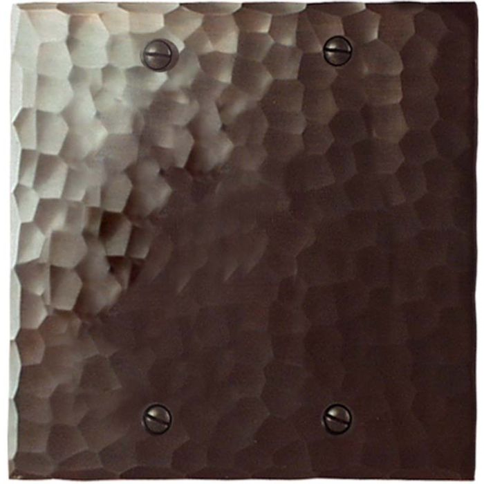 Hammered Double Blank Wallplate Covers