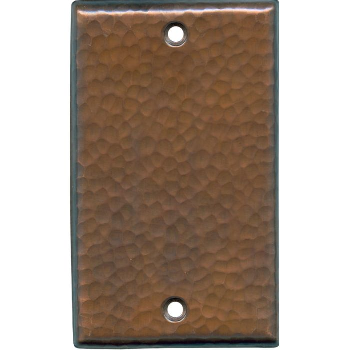 Hammered Antique Copper - Blank Wall Plates