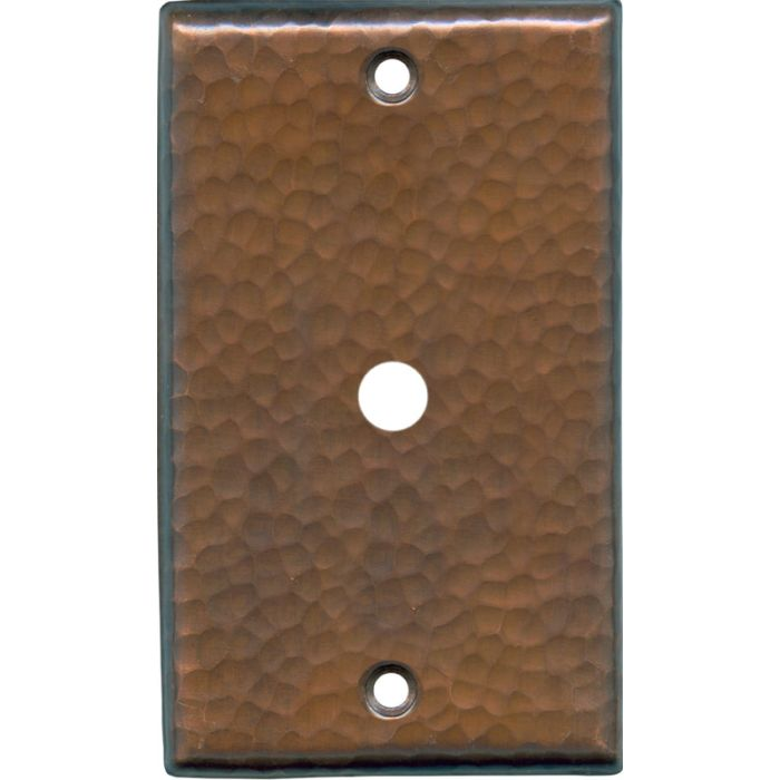 Hammered Antique Copper - Cable Wall Plates