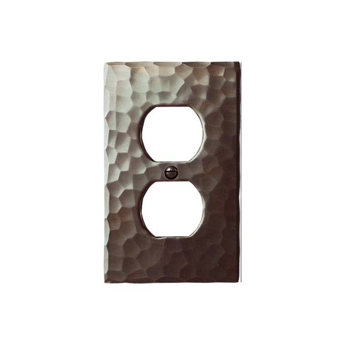 Hammered 1 Gang Duplex Outlet Cover Wall Plate