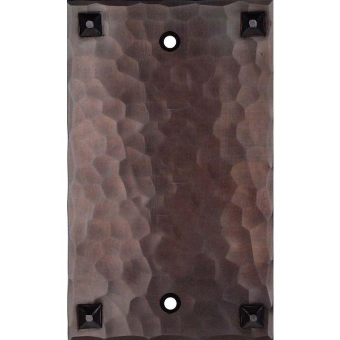 Hammered with Nails 1 Gang Blank Wall Plates
