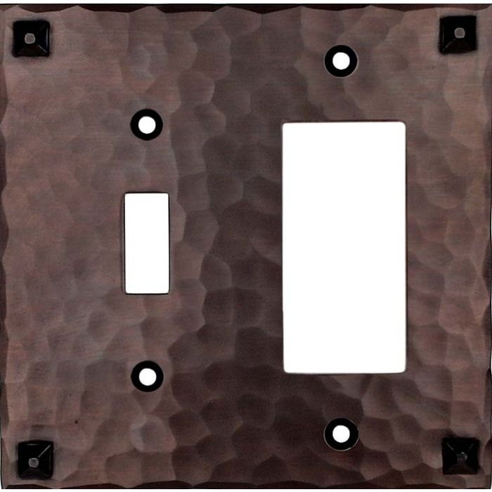 Hammered with Nails Combination 1 Toggle / Rocker GFCI Switch Covers