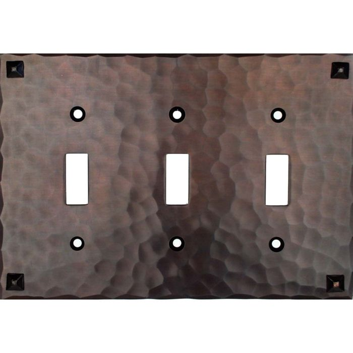 Hammered with Nails Triple 3 Toggle Light Switch Covers