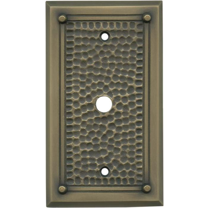 Hammered with Nails Antique Brass - Cable Wall Plates
