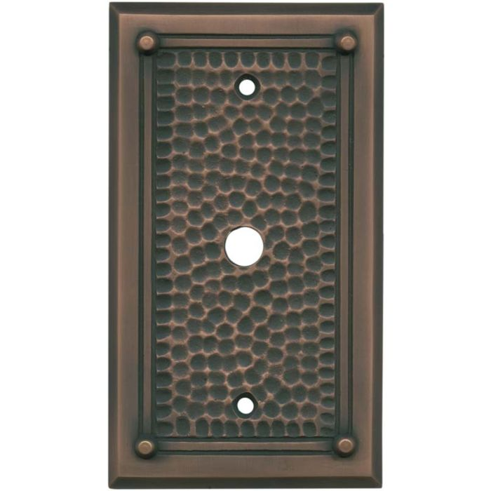 Hammered with Nails Antique Copper - Cable Wall Plates