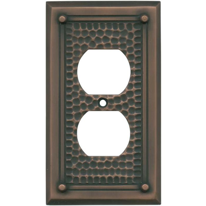 Hammered with Nails Antique Copper - Outlet Covers