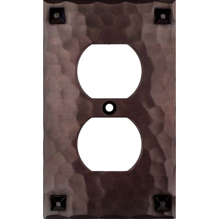 Hammered with Nails 1 Gang Duplex Outlet Cover Wall Plate