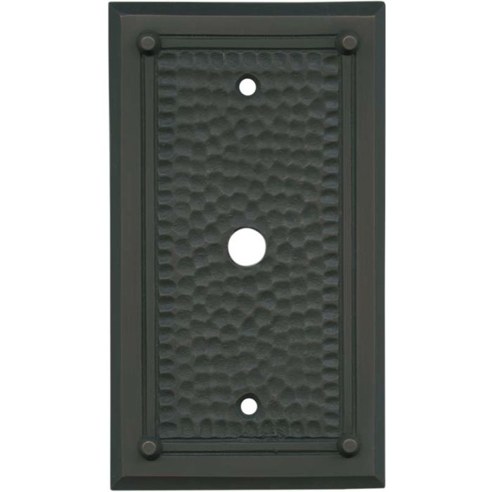 Hammered with Nails Oil Rubbed Bronze Coax Cable TV Wall Plates