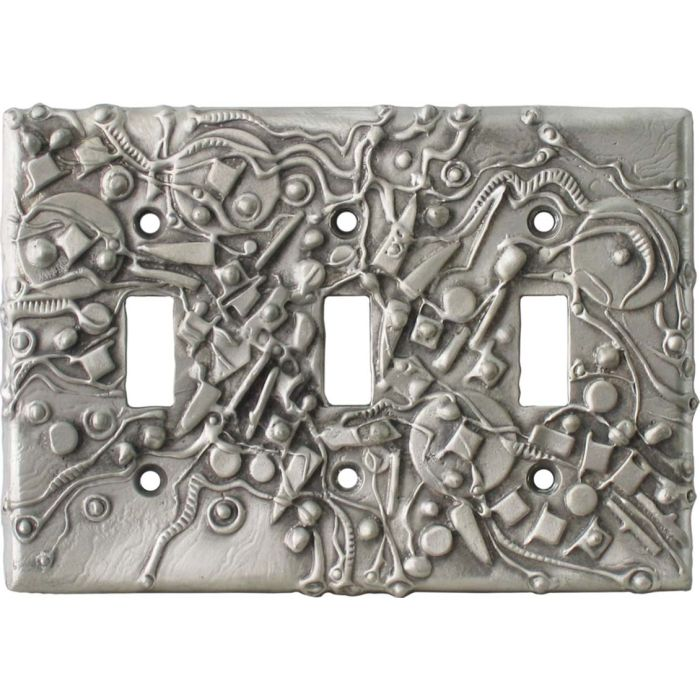 Hardware Triple 3 Toggle Light Switch Covers