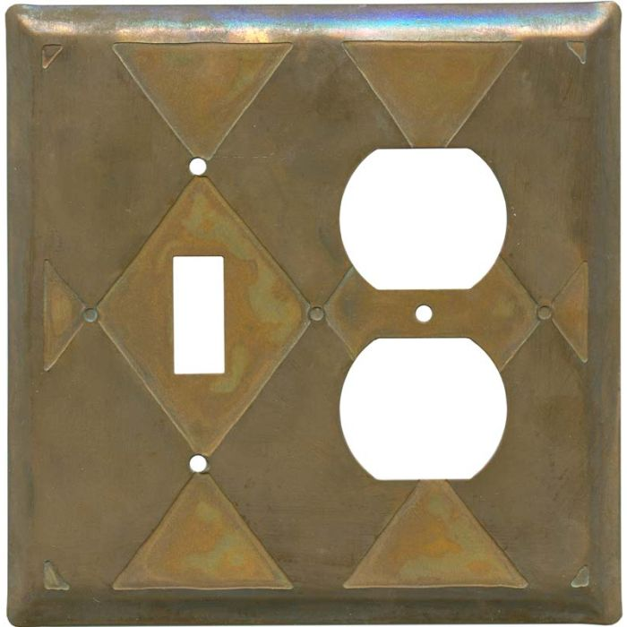 Harlequin Tarnished Copper Combination 1 Toggle / Outlet Cover Plates