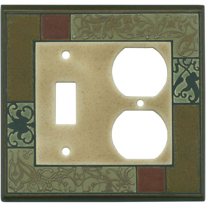 Havana Ceramic Combination 1 Toggle / Outlet Cover Plates