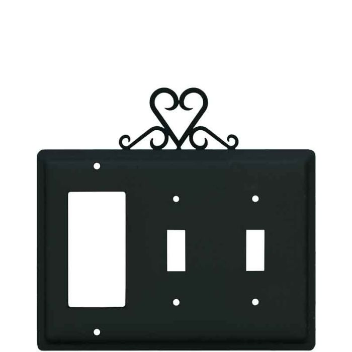 Heart 1-Gang GFCI Decorator Rocker Switch Plate Cover