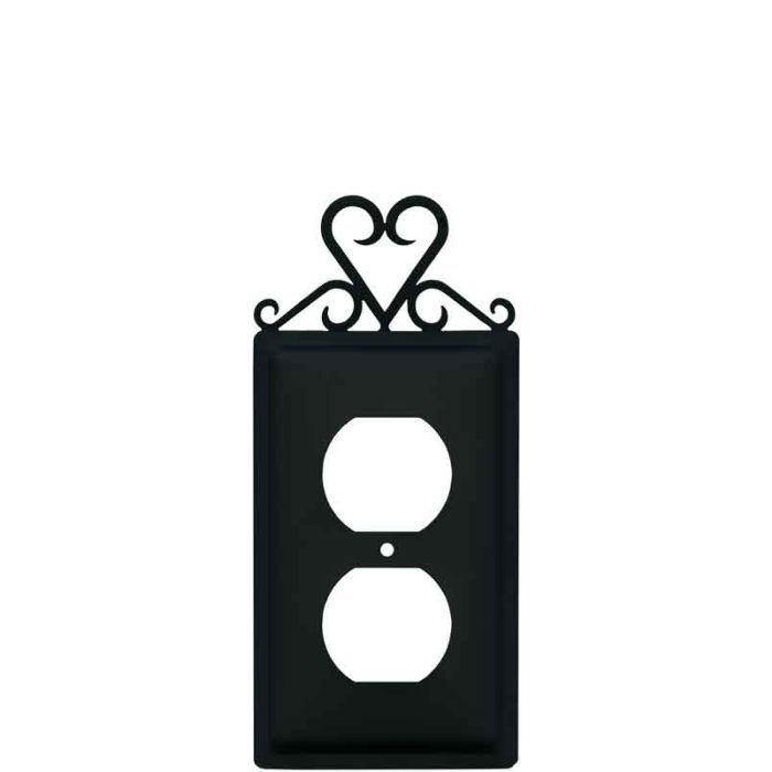 Heart 1 Gang Duplex Outlet Cover Wall Plate