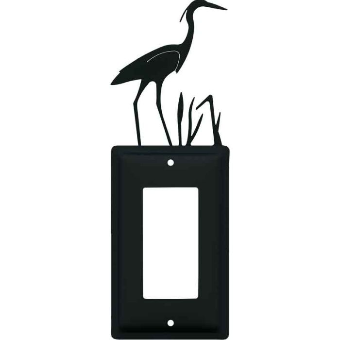 Heron Single 1 Gang GFCI Rocker Decora Switch Plate Cover