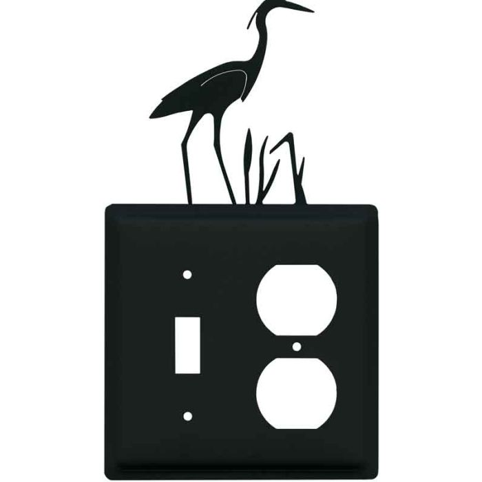 Heron Combination 1 Toggle / Outlet Cover Plates