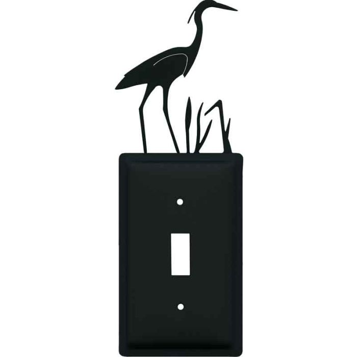 Heron Single 1 Toggle Light Switch Plates