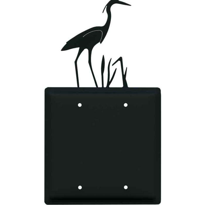 Heron Double Blank Wallplate Covers