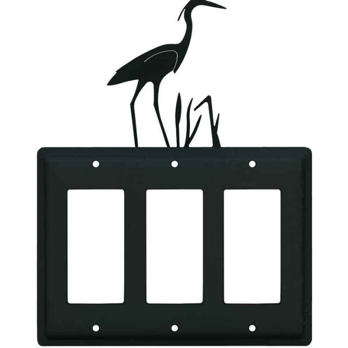 Heron Triple 3 Rocker GFCI Decora Light Switch Covers