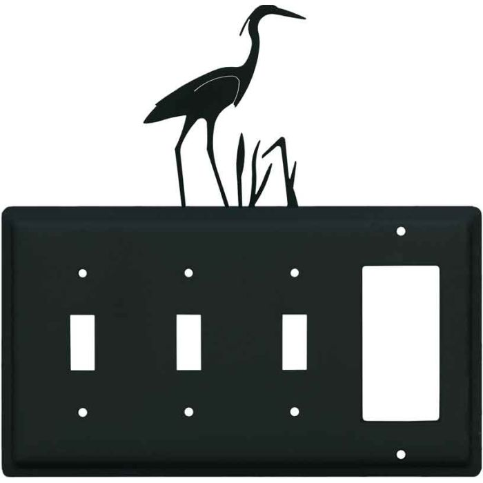 Heron Triple 3 Toggle / 1 Rocker GFCI Switch Covers
