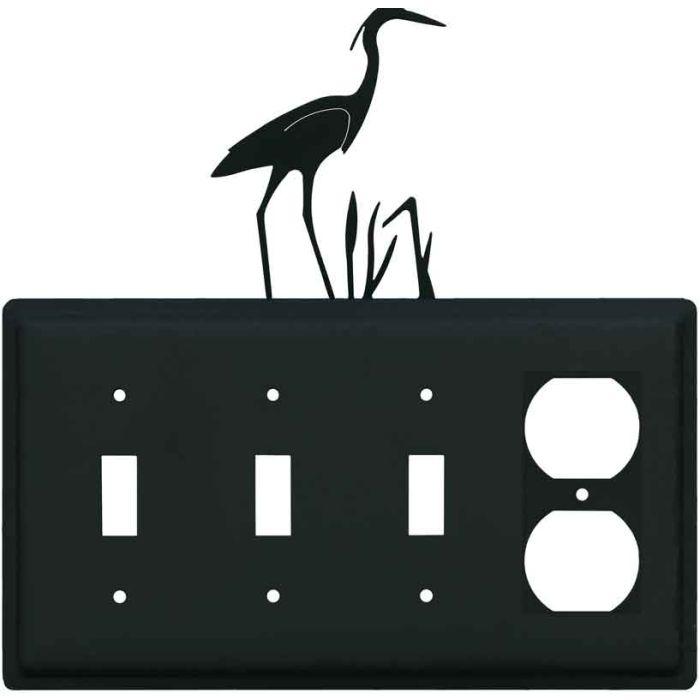 Heron 3-Toggle / 1-Duplex - Combination Wall Plates