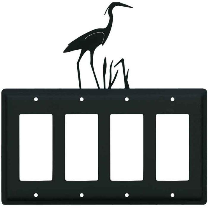 Heron 4 Rocker GFCI Decorator Switch Plates